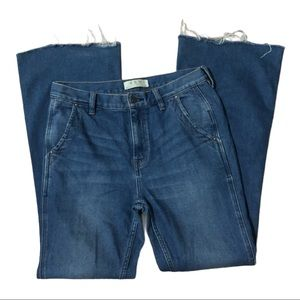 We the Free High Rise Medium Wash Flare Jeans High Waist Jeans